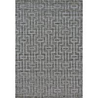 Grand Bazaar Savona Graphite Wool Rug - 8'6 x 11'6