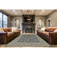 Grand Bazaar Botticino Smoke Wool Area Rug (9'6 x 13'6)