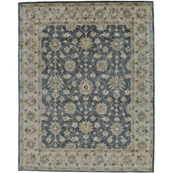 Grand Bazaar Botticino Smoke Wool Rug (8' X 11') - 8' x 11'