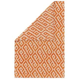 Grand Bazaar Harlee Orange/ Natural Wool Rug - 2' x 3'