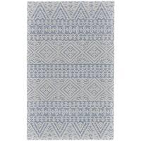 Grand Bazaar Hillsdale Ivory/ Lake Wool Rug - 8' x 11'