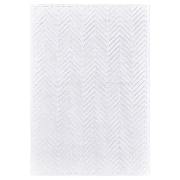 "Grand Bazaar Qazi White/ White Wool Rug - 7'6"" x 10'6"""