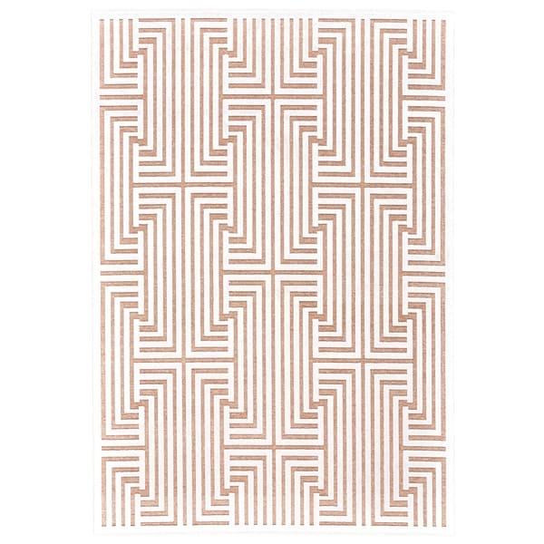 "Grand Bazaar Qazi Blush/ White Wool Rug - 7'6"" x 10'6"""