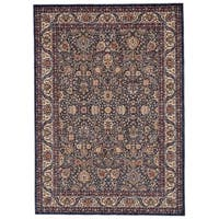 Grand Bazaar Moberly Blue/ Ivory Area Rug - 9'6 x 13'6