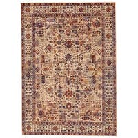 Grand Bazaar Moberly Taupe/ Blue Area Rug - 9'6 x 13'6