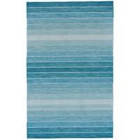Grand Bazaar Tavana Aqua Wool Rug (9'-6 X 13'-6) - 9'6 x 13'6