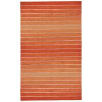 Grand Bazaar Tavana Orange Wool Rug - 9'6 x 13'6