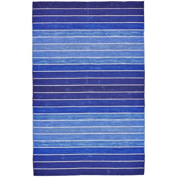 """Grand Bazaar Tavana Blue Wool Rug - 9'6"""" x 13'6"""""""