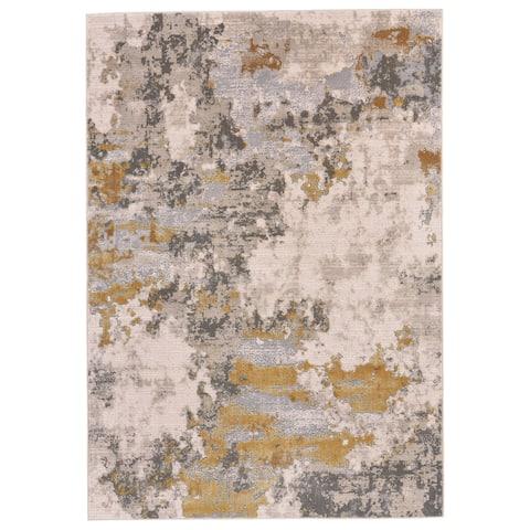 Grand Bazaar Vanhorn Gold/ Birch Wool Rug - 8' x 11'