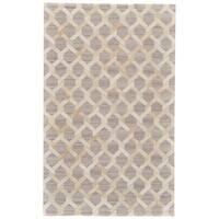 Grand Bazaar Canady Ivory/ Silver Wool Rug - 9'6 x 13'6