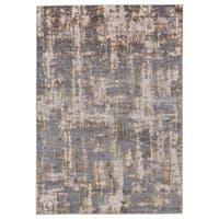 Grand Bazaar Vanhorn Gold/ Sterling Wool Rug - 8' x 11'