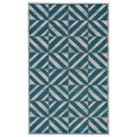 Grand Bazaar Vassar Mint Wool Rug - 2'2 x 4'
