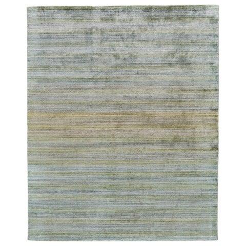 "Grand Bazaar Rocero Green Wool Rug - 9'6"" x 13'6"""