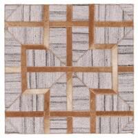 Grand Bazaar Canady Sudan/ Slate Wool Rug - 8' x 11'