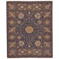 Grand Bazaar Sulli Navy Wool Area Rug - 9'6 x 13'6