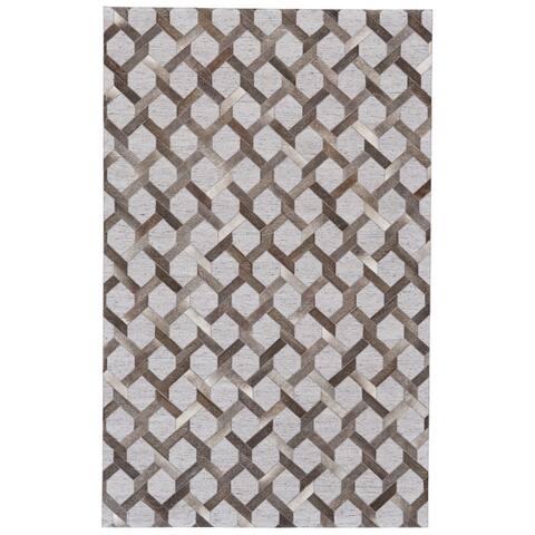 Grand Bazaar Canady Steel/ Storm Wool Rug - 8' x 11'