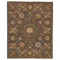 Grand Bazaar Sulli Charcoal Wool Area Rug - 7'9 x 9'9
