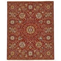 Grand Bazaar Sulli Red Wool Rug (8'-6 X 11'-6) - 8'6 x 11'6