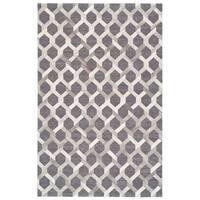 Grand Bazaar Canady Gray/ Asphalt Wool Rug - 9'6 x 13'6