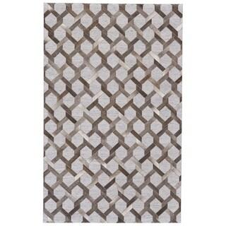 "Grand Bazaar Canady Steel/ Storm Wool Rug (9'-6 X 13'-6) - 9'6"" x 13'6"""