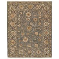 Grand Bazaar Sulli Medium Blue Wool Area Rug - 8'6 x 11'6