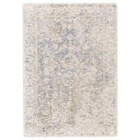 Grand Bazaar Michener Blue/Ivory Wool Rug - 9'6 x 13'6