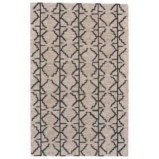 Grand Bazaar Fadden Charcoal/Grey Cotton and Wool Rug - 8' x 11'