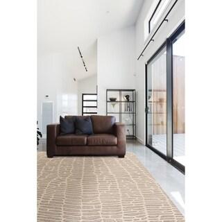 "Grand Bazaar Fadden Ivory/ Gray Wool Rug (9'-6 X 13'-6) - 9'6"" x 13'6"""