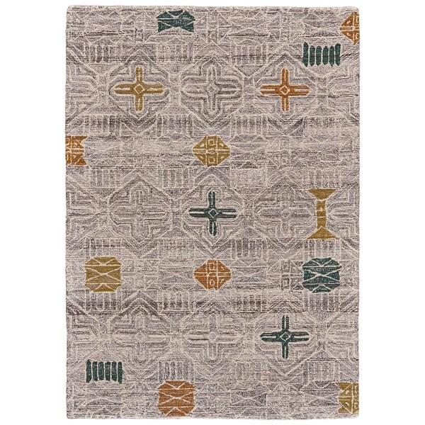 8 X 11 Area Rugs On Sale: Shop Grand Bazaar Halleck Silver/Multi Wool Area Rug