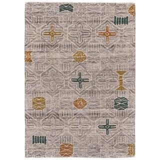 Grand Bazaar Halleck Silver/Multi Wool Area Rug - 8' x 11'