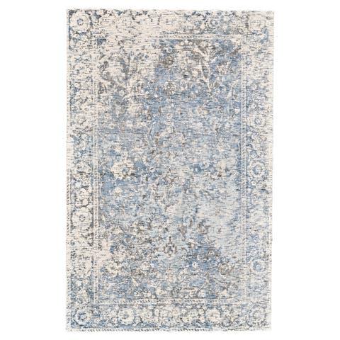 "Grand Bazaar Michener Gray/ Blue Wool Rug (9'-6 X 13'-6) - 9'6"" x 13'6"""