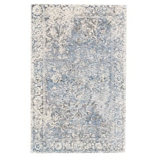 "Grand Bazaar Michener Gray/ Blue Wool Rug (9'-6 X 13'-6) - 9'6"" x 13'6"""