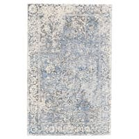 Grand Bazaar Michener Gray/Blue Wool Rug - 9'6 x 13'6