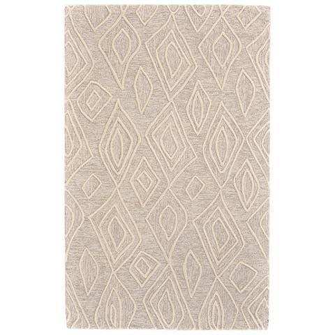 Grand Bazaar Fadden Ivory/Natural Wool Area Rug - 8' x 11'