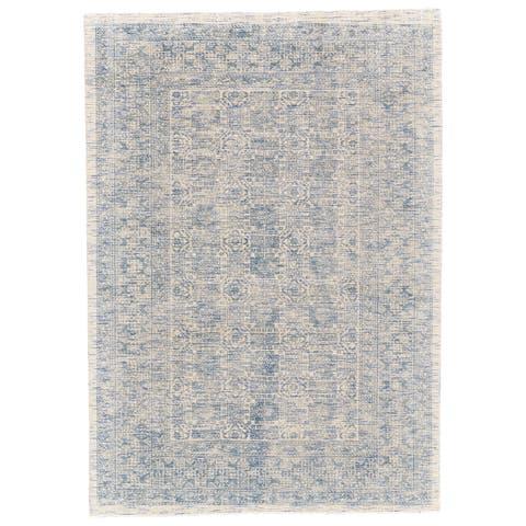 """Grand Bazaar Michener Blue Viscose Cotton Rug - 9'6"""" x 13'6"""""""