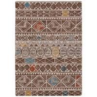 Grand Bazaar Halleck Brown/Multicolor Wool Rug - 9'6 x 13'6