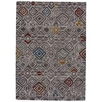 Grand Bazaar Halleck Charcoal/Multicolored Wool Rug - 8' x 11'