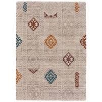 Grand Bazaar Halleck Beige/Multi Wool Area Rug - 8' x 11'