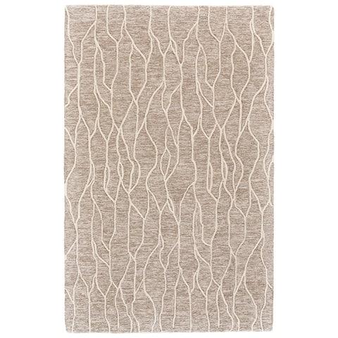 """Grand Bazaar Fadden Ivory/Grey Wool Area Rug - 9'6"""" x 13'6"""""""