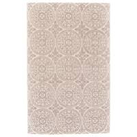 Grand Bazaar Eckels Ivory/Light Grey Wool Area Rug - 9'6 x 13'6