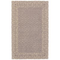 Grand Bazaar Eckels Dark Grey/Ivory Cotton and Wool Rug - 9'6 x 13'6
