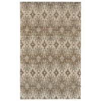 Grand Bazaar Lacombe Gray Wool Rug (9'-6 X 13'-6) - 9'6 x 13'6