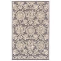 Grand Bazaar Eckels Dark Grey/Ivory Cotton and Wool Rug - 9'6 x 13'6