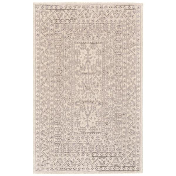 Grand Bazaar Eckels Ivory/ Light Gray Wool Rug (9'-6 X 13'-6) - 9'6 x 13'6