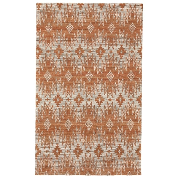 Shop Grand Bazaar Lacombe Rust Area Rug 9 6 Quot X 13 6