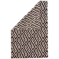 Grand Bazaar Harlee Black/White Wool Rug (8' x 11')
