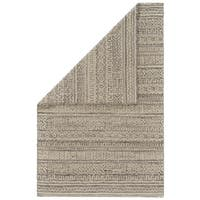 Grand Bazaar Feizy Harlee Collection Transitional Abstract Handwoven White/Grey Wool/Cotton Rug - 8' x 11'