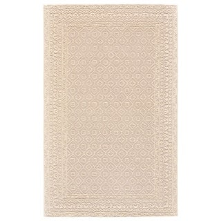 "Grand Bazaar Eckels Light Beige/ Ivory Wool Rug (9'-6 X 13'-6) - 9'6"" x 13'6"""