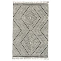Grand Bazaar Cadot Black Wool Rug (8' X 11') - 8' x 11'