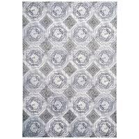 Grand Bazaar Crowford White/ Sterling Area Rug - 10'4 x 13'6